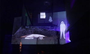 Projections-by-Wendy-of-lost-Kai-in-the-courtyard