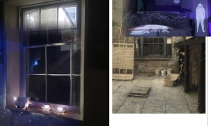 Servants-Hall-window-and-images-of-Kai-projected-outside